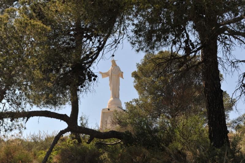 Sierra Espuña walks, the Via Crucis between the Santuario de Santa Eulalia in Totana and the Corazón de Jesús viewing point