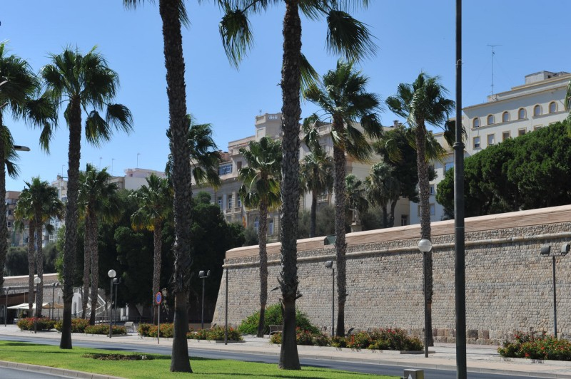The Muralla del Mar in Cartagena, part of the last defensive wall to surround the city