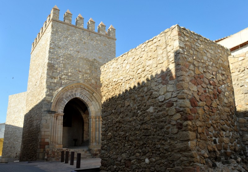 The Porche de San Antonio and the city wall of Lorca