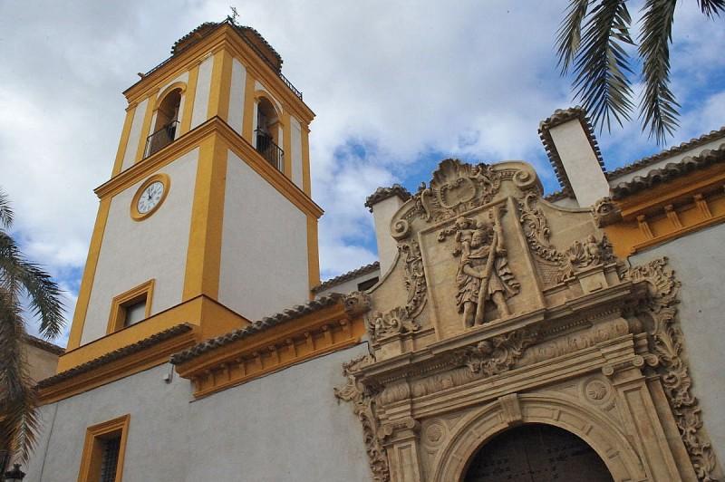 The Parroquía de San Cristóbal in Lorca