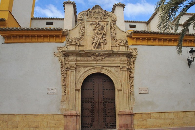 The Parroquía de San Cristóbal in Lorca