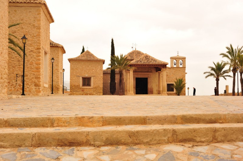 Ermita El Calvario in Lorca, the church at the end of the Via Crucis route on the Lorca Mount Calvary