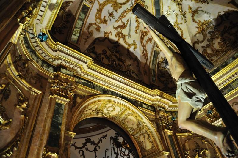 Ermita El Calvario in Lorca, the church at the end of the Via Crucis route on the Lorca Mount Calvary