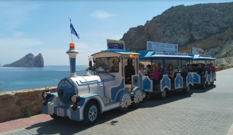 Águilas tourist train in service every evening during July and August