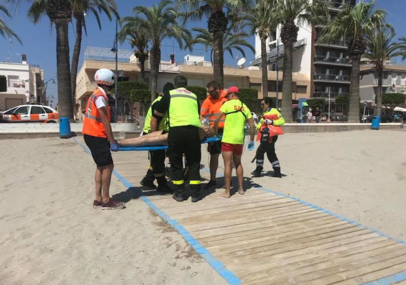 San Javier lifeguards in action again at Playa Barnuevo