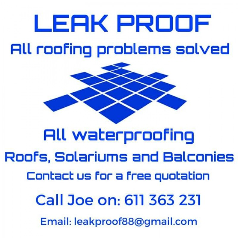 Leak Proof, for all your roof repairs and roofing installation needs in Alicante and the Region of Murcia