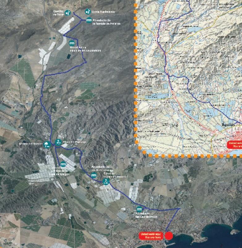 The Camino del Agua walking route in Águilas