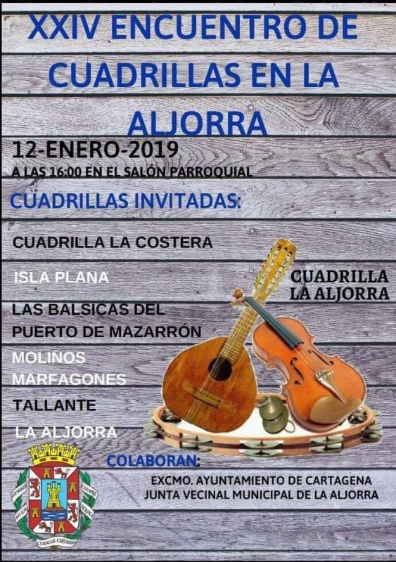 <span style='color:#780948'>ARCHIVED</span> - 12th January 2019 La Aljorra celebrates its annual Encuentro de Cuadrillas