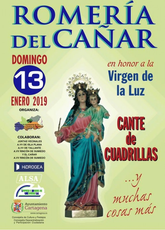 <span style='color:#780948'>ARCHIVED</span> - Sunday 13th January 2019 Romería of the Virgen de la Luz in El Cañar, Tallante Cartagena