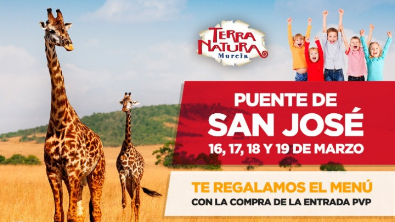 <span style='color:#780948'>ARCHIVED</span> - 16th to 19th March, free lunch menu for visitors to Terra Natura Murcia wildlife park