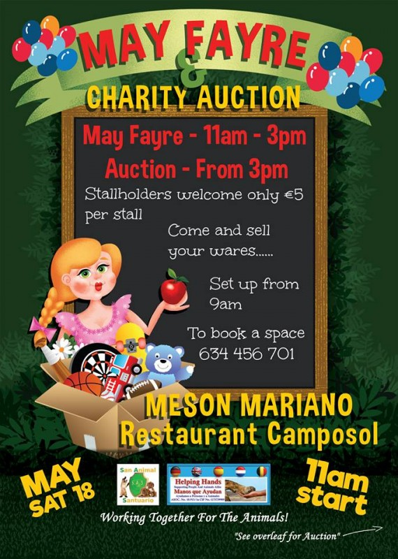 <span style='color:#780948'>ARCHIVED</span> - Saturday May 18th: May Fayre and Charity Auction on Camposol