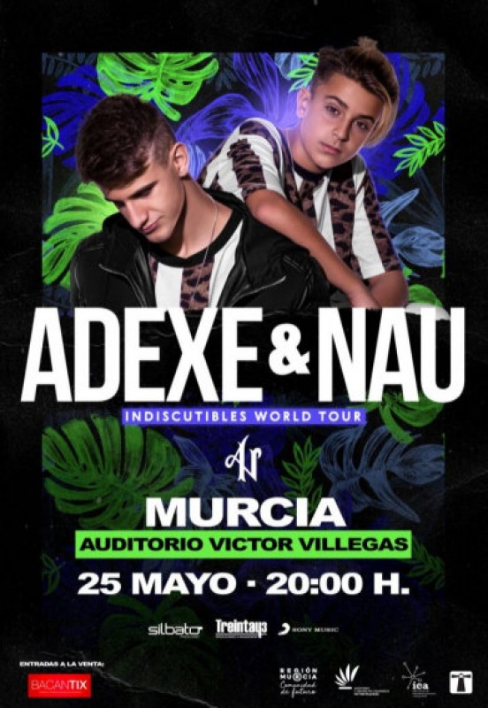 <span style='color:#780948'>ARCHIVED</span> - 25th May, Adexe y Nau live in concert at the Auditorio Víctor Villegas in Murcia