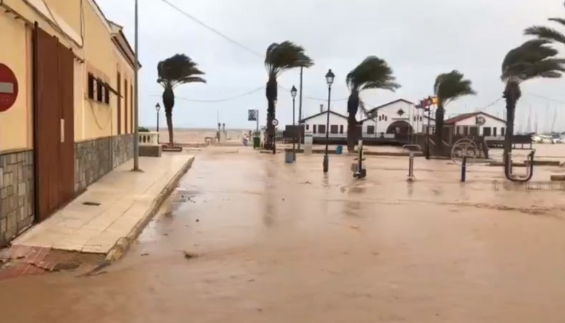 <span style='color:#780948'>ARCHIVED</span> - Aemet maintain rain and wind alerts in Murcia as the gota fría storm recedes