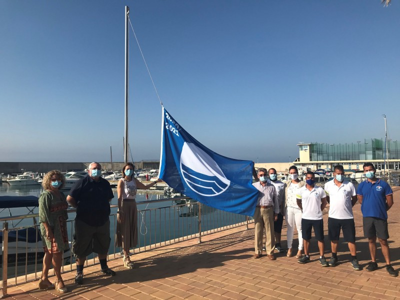 Blue flag and Q for Quality beaches in the municipality of Águilas 2020