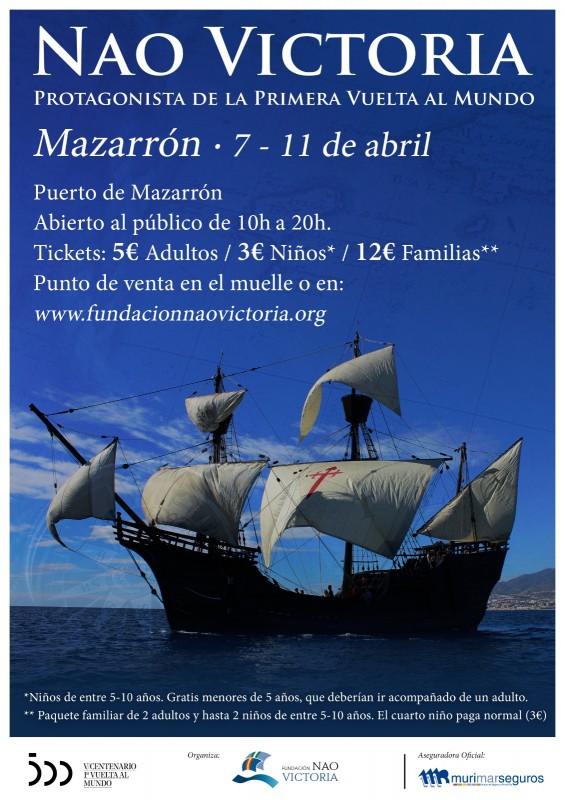 <span style='color:#780948'>ARCHIVED</span> - Nao Victoria replica ship in Puerto de Mazarron April 7 to 11