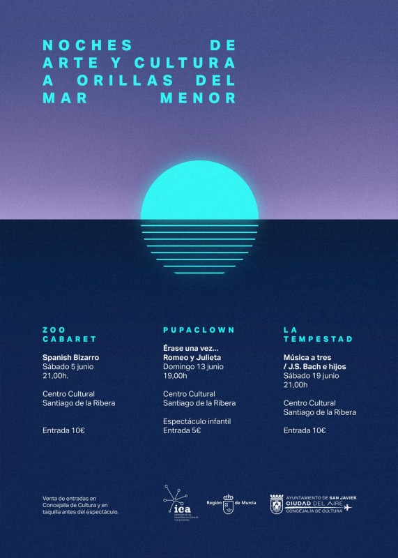 <span style='color:#780948'>ARCHIVED</span> - June 5,13 and 19; Nights of culture by the Mar Menor in Santiago de la Ribera