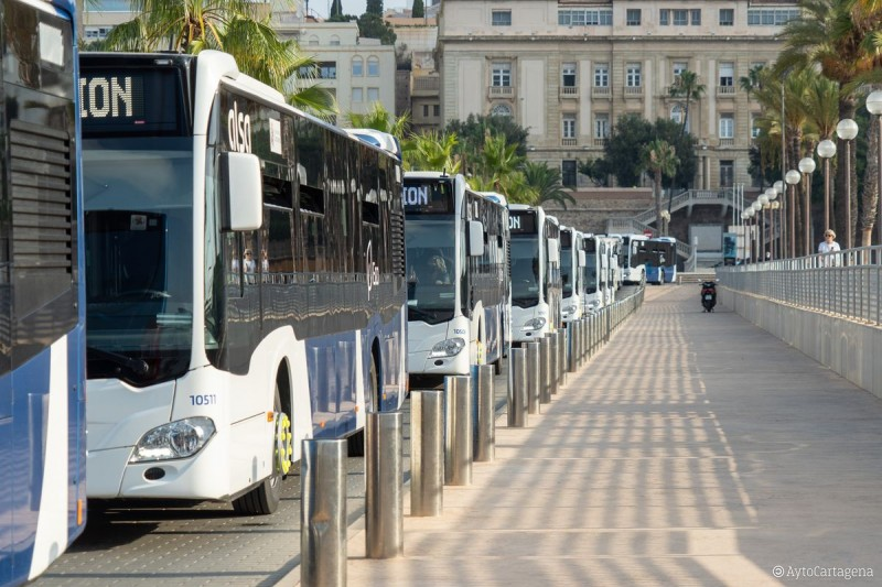 <span style='color:#780948'>ARCHIVED</span> - Cartagena replaces a fifth of its buses with new vehicles