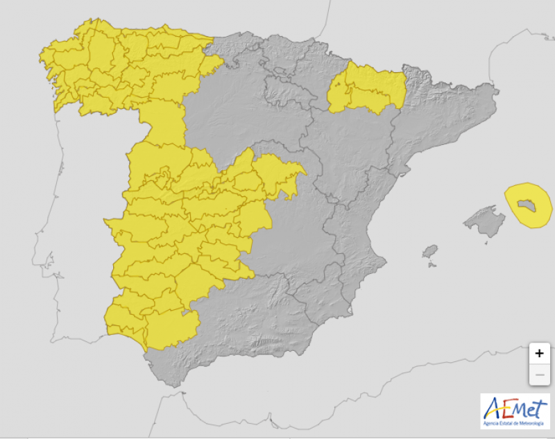 <span style='color:#780948'>ARCHIVED</span> - More than 20 provinces in Spain on alert for storms: September 14