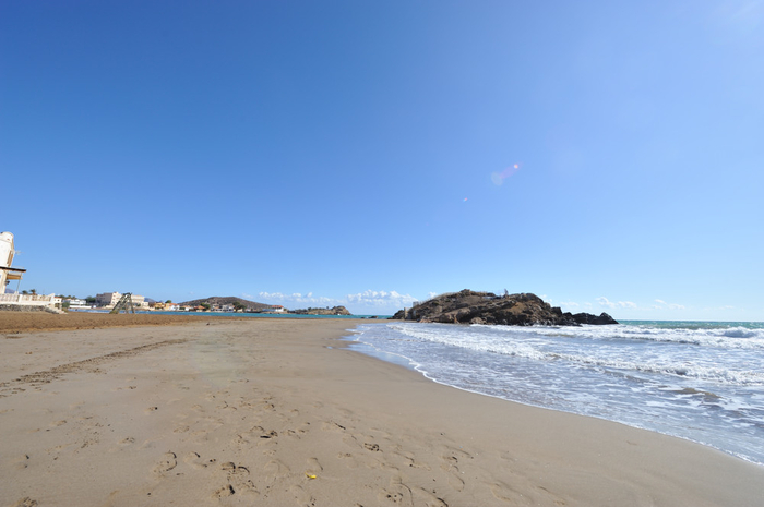Overview of the beaches of Mazarrón