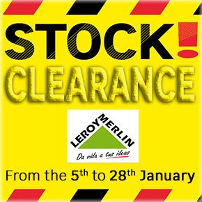 Leroy Merlin Stock Clearance